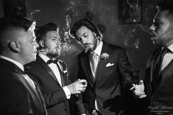 the groom's friends real moment